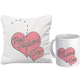 Sky Trends Valentine Day Best Couple love You Surpirse Gifts For Wife Girlfriend Husband Printed mug with Cushion Cover 369