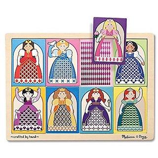 Melissa & Doug Peek-Through Puzzle Princesses