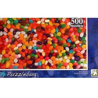 Fantastic Colorful Jelly Beans!! 500 Piece Jigsaw Puzzle Jolly Jellies By Puzzlebug