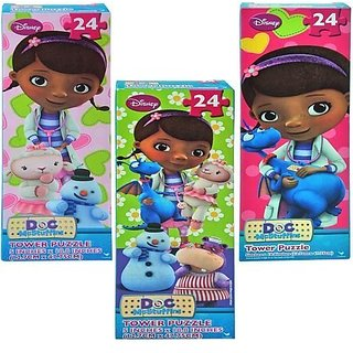 Doc McStuffins 24 Piece Tower Puzzle - Set of 3