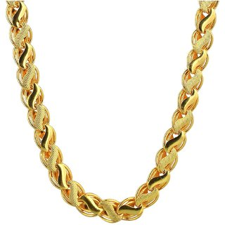 Sparkling Jewellery Gold Plated Designer Chain (24 Inches) for Men