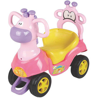 EZ' PLAYMATES  BABY RIDE ON GIRAFFE CAR PINK
