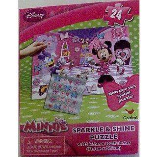 buy disney minnie mouse 24 piece sparkle shine puzzle w sticker