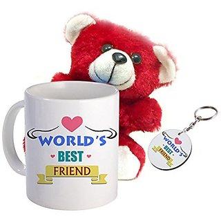 Sky Trends Valentine Offer Gift Set Printed Coffee Mug Keychain Soft Teddy Best Valentine Gift For Girlfriend Boyfriend Husband Wife Stg-015
