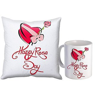 Sky Trends Valentine Day Best Couple love You Surpirse Gifts For Wife Girlfriend Husband Printed mug with Cushion Cover 053