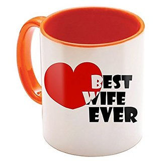 Wonderful Best Valentine Gift Orange Colour Caffee Mug For Your Love Boyfriend, Girlfriend Husband Wife And Friend 128