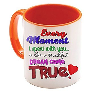Sky Trends Valentine Gifts For Boyfriend Friend Love Printed Mug Orange I U Forever Perfect