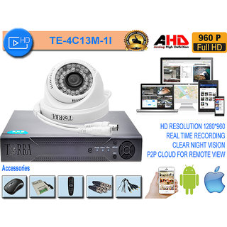 AHD DVR KIT WITH 1 AHD CAMERA IN 1.3 MP(960P) RESOLUTION