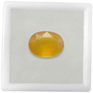 Om gyatri 5.70 Ratti Certified Yellow Sapphire (Pukhraj) Gemstone