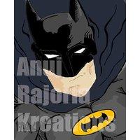 Batman Graphics Designer Digital Painting