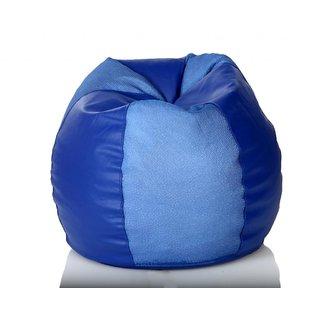 Comfy Bean Bags - Bean Bag - Cross Net - Size Xxl - Filled With Beans Filler - Net Blue