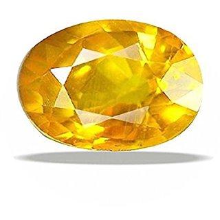 Om gyatri7.25 ratti Yellow Sapphire pukraj stone yellow sapphire stone