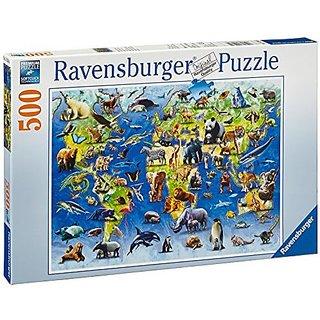 Ravensburger Puzzles Endangered Animals, Multi Color (500 Pieces)