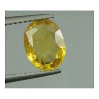 Om gyatri 8.25 Ratti Natural Pukhraj Yellow Sapphire Certified
