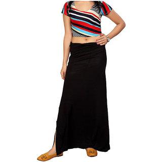 Aika Womens Sarina(Lycra) Readymade Petticoat (FreeBlack)Pe-65 P-Coat Black