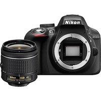 Nikon D3300 24.2MP Digital SLR Camera, Black With AF-P