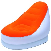 Comfort Quest Inflatable Air Sofa Chair Beanless Bag Orange Color - 75053OR
