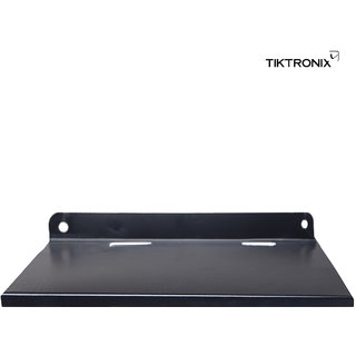 Tiktronix Set Top Box Plain Metal Stand (Black)