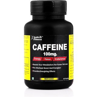 Healthvit Fitness Caffeine 200MG 60 Tablets