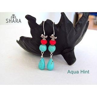 Aqua Hint Earrings