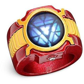 Avengers Marvel Iron Man 3 LED Arc Reactor Ring Size 12