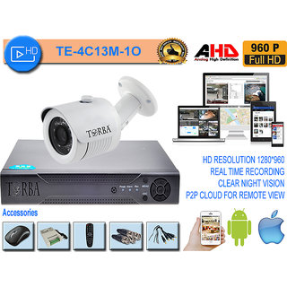 4 CHANNEL AHD DVR KIT WITH 1 AHD OUTDOOR CAMERA IN 1.3 MP(960P) RESOLUTION