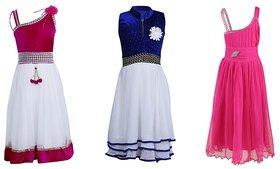 Qeboo Girls Partywear DressesPack Of 3CRSRHC2P14B116P