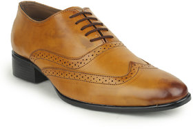 Kennady Men's Tan Lace-up Casual Shoes