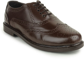 Kennady Men's Brown Lace-up Casual Shoes
