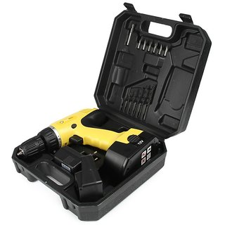 Buildskill BCD2100 10mm Cordless Drill - 12v with 13 accessories  free charger