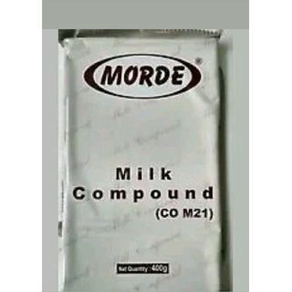 Morde MILK Chocolate Compound /Slab - 400 gms FOR CAKE AND CHOCOLATE MAKING