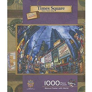 Master Pieces Puzzle Company Times Square New York Travel Suitcases Jigsaw Puzzle (1000 Piece)