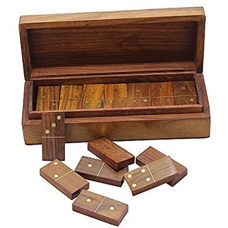 RoyaltyRoute Games Dominoes Wooden Games Set Craft Creations Great Gift Ideas