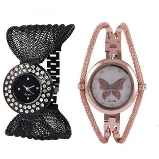 i DIVAS   Authentic daimond zulla and gold Butterflay analog watch for girlswomen.