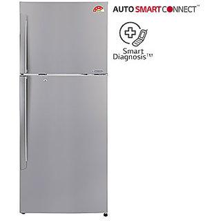 Lg 308 L Gl-I322Rpzl Frost Free Double Door 4 Star Refrigerator - Shiny Steel