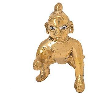 5c15f280b Classic Auspicious Handicraft Idol Of Lord Krishna Decorative Brass Piece  By Bharat Haat BH05698