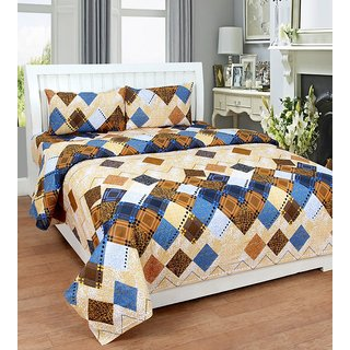 BAB TRENDZ COTTEN DOUBLE BED SHEET WITH 2 PILLOW COVER