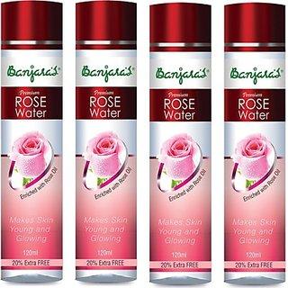 Banjaras Rose Water - 120ml 4 - Packs