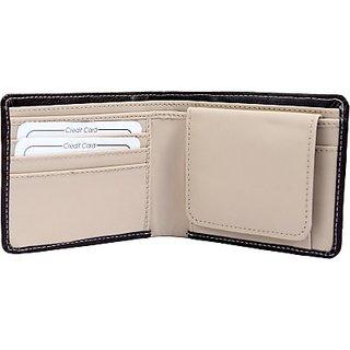 Rohilla  Men Black Artificial Leather Wallet (4 Card Slots) KBH-WW1
