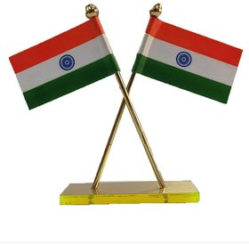Double Side Indian Flag For Car