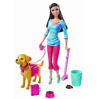 Barbie Potty Training Taffy Nikki Fashion Doll and Pet Playset