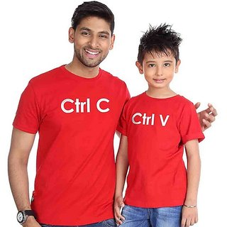 Ctrl C Ctrl V Tees combo for Dad and Son