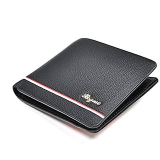 Bogesi Mens Black Bifold Wallet