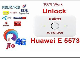 HUAWEI AIRTEL 4G e5573 LTE 150 Mbps 3G 4G WIFI WIRELESS POCKET ROUTER Support All sim Like Jio and etc. only GSM sims