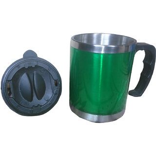 insulated stainless steel travelling hot and cold mug
