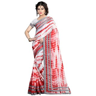 4Tigers Crepe Saree With Blouse Piece