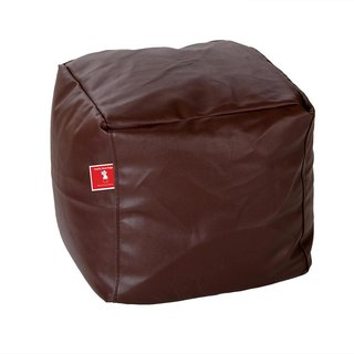 Comfy Bean Bags - Bean Bag Footrest - Size Small - Filled With Beans Filler ( Brown )