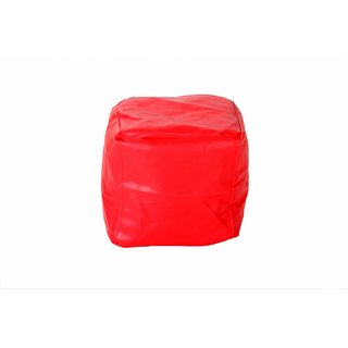 Comfy Bean Bags - Bean Bag Footrest - Size Medium - Filled With Beans Filler ( Red )
