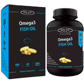 Sinew Nutrition Fish Oil 500mg (150EPA  100DHA), 60 Softgels