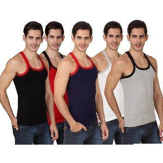 (PACK OF 6) Common Men's GYM Vests/Tank Top - Multi-Color